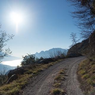Uno dei punti panoramici, sulla forestale verso Bocca di Tovo