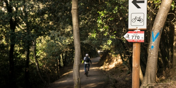 Entry to the trail on Monte Brione