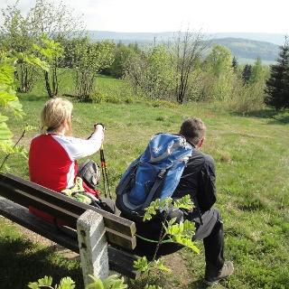 Vom Schwartenberg Blick auf Seiffen