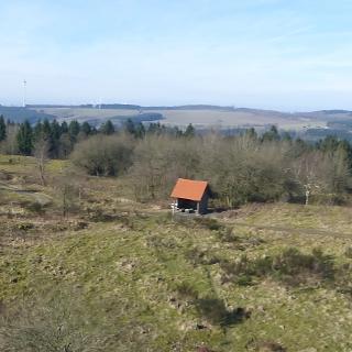 Sicht vom Eggeturm in Richtung Teutoburger Wald/Hermannsdenkmal