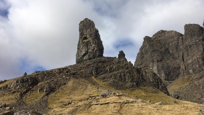 The Old Man of Storr from below