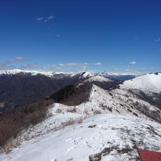 Auf dem Gipfel des Monte Bolletto