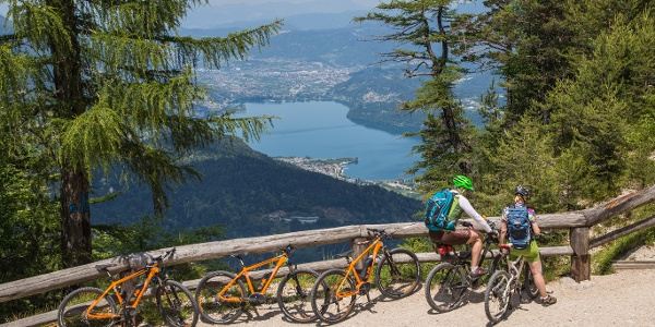 Vista sul lago di Caldonazzo
