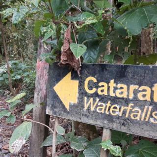 Abzweig zum Wasserfall