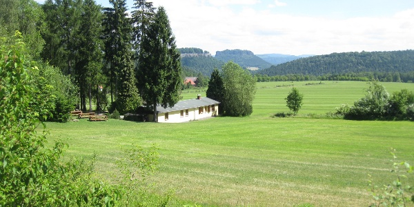 Blick auf das walderlebniszentrum Leupoldishain