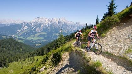 mountanbiking with a view