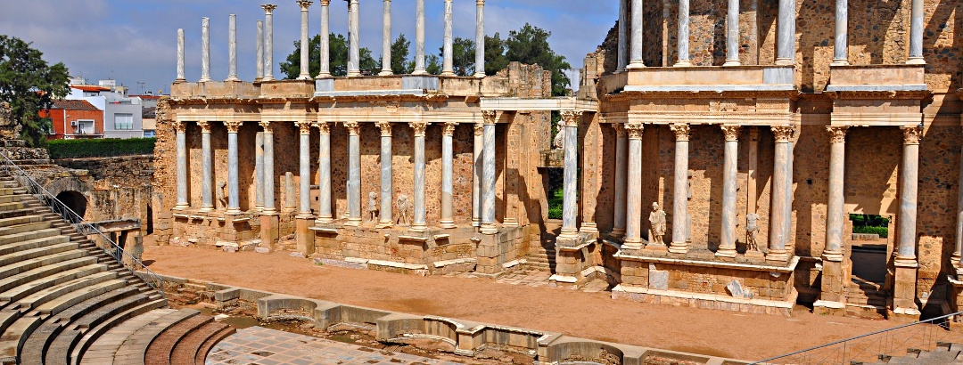 El teatro romano en Mérida