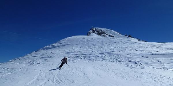 Abfahrt vom Gipfel des Hinteren Seelenkogels 3470m