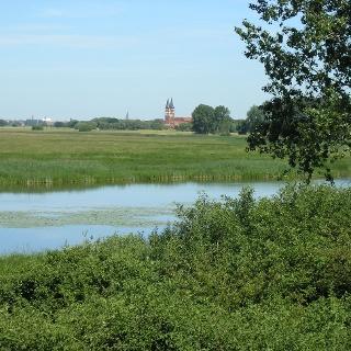 Blick vom Bucher Brack auf Kloster Jerichow