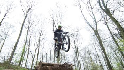Action auf dem Skovhuggeren Trail