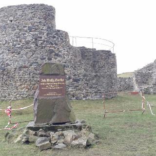 Burgruine Krupa - auch Goethe war hier