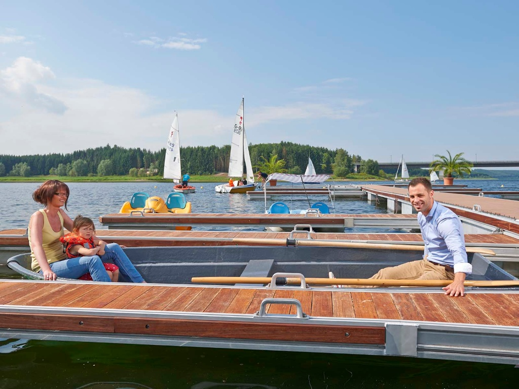 Bootfahren am Zeulenrodaer Meer