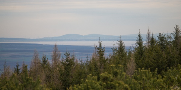 A Fertő-tó terpeszkedik a Lajta-hegység alatt