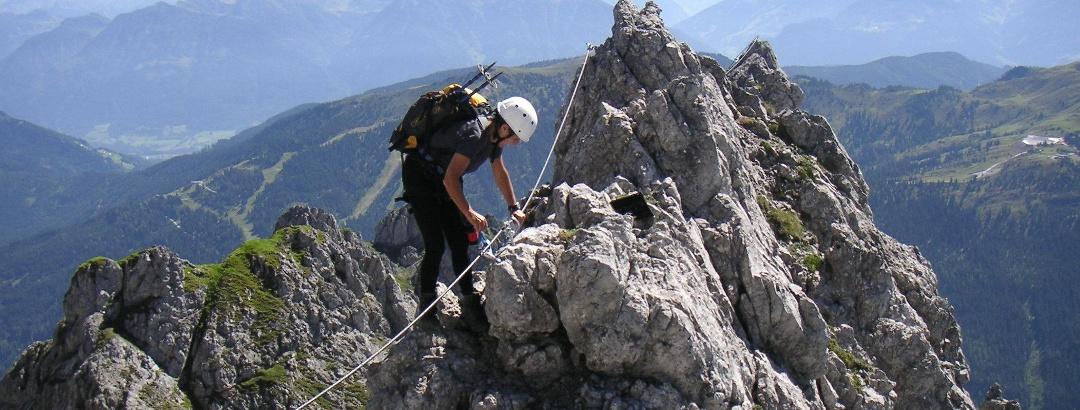 Ständiges Auf und Ab im Königsjodler-Klettersteig.