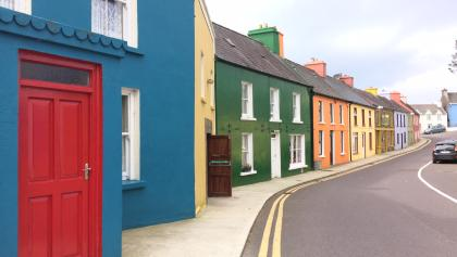 The colourful houses of Eyeries