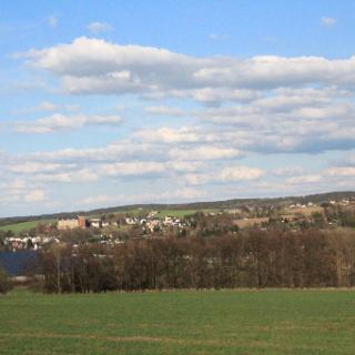Blick auf Stollberg, Schloss Hohneck