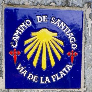 Wegmarkierung auf der Via de la Plata