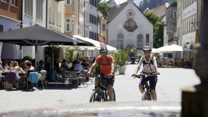 Mit dem Bike unterwegs nach Feldkirch - auf dem Walgau Radweg