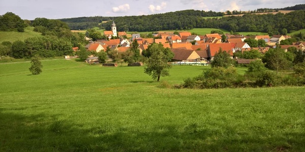 Blick hinab auf Ebersbrunn