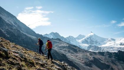 Hikers in Val d'Anniviers.