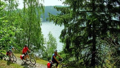 Radfahrer am Thüringer Meer