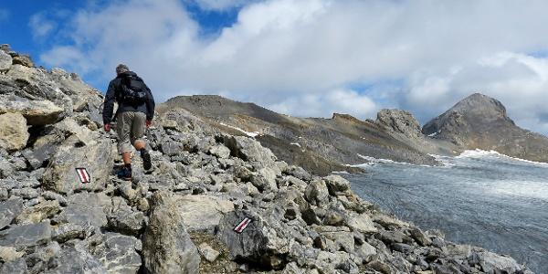 Aufstieg zur Pointe de Vatseret.