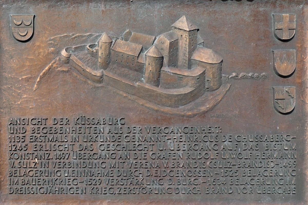 Modell und historische Daten der Küssaburg