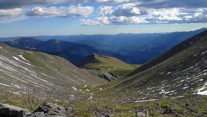 Panorama depuis le col de Croussette
