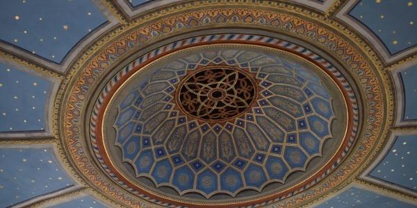 Restaurierte Decke der Alten Synagoge in Hechingen
