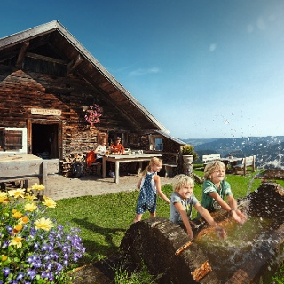 Lärchenhütte auf der Sausteigalm