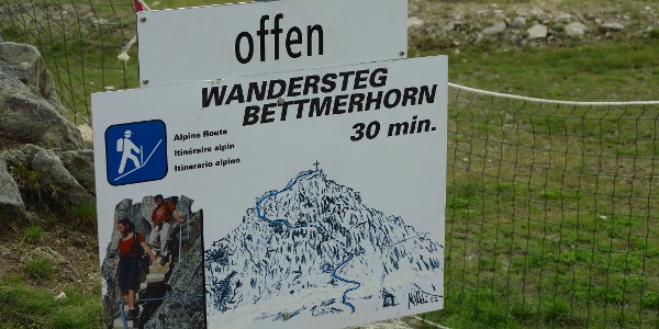 Einstieg in den UNESCO-Höhenweg.