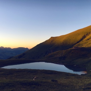 Lac d'Anthème at sunset