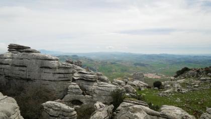 """Blick nach Süden vom Aussichtspunkt """"Las Ventanillas"""""""