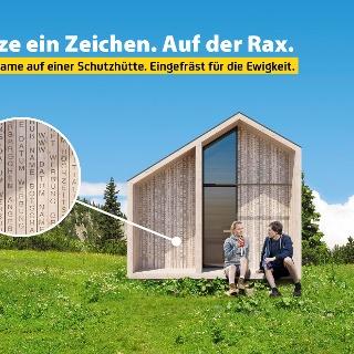 Limitierte Spendenaktion des ÖTK für den Neubau der Dirnbacherhütte auf der Rax.