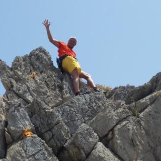 Bergkamm gegen Ende der Route