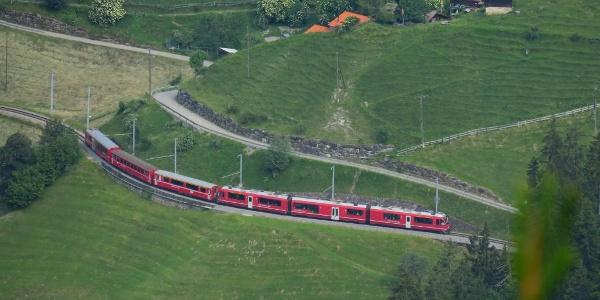 Rhätische Bahn bei Langwies.