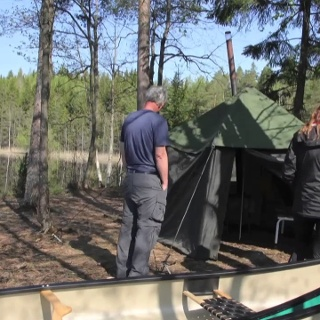 Nuuksio National Park Tent Sauna Experience in 30 seconds