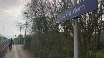Der Bahnhaltepunkt Lahntal-Caldern.