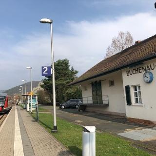 Der Bahnhof Buchenau (Lahn).