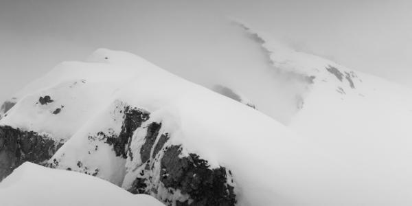 Gipfelgrat in Richtung Nordosten