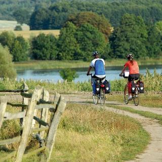 Umgeben von einer einzigartigen Naturlandschaft führt der Weg vorbei am Krakower See durch die Nossentiner/Schwinzer Heide.