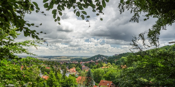 Aussicht auf Blankenburg vom Abschnitt des Panoramawanderweges