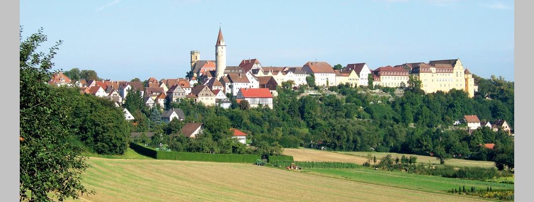 Blick auf Kirchberg/Jagst vom Ockenauer Steig