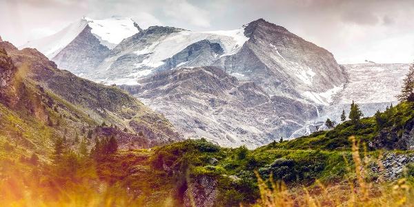 Vue sur le glacier de Tourtemagne et le Bishorn