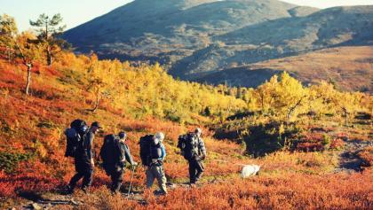 Wanderung durch die Herbstlandschaft