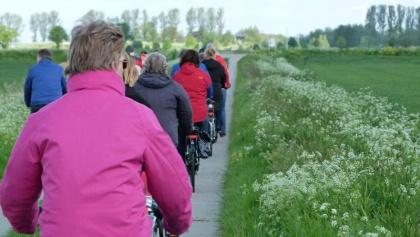 Quer durch die Landschaft in die angrenzenden Niederlande.