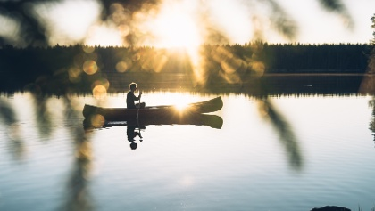 Kanutour auf dem See