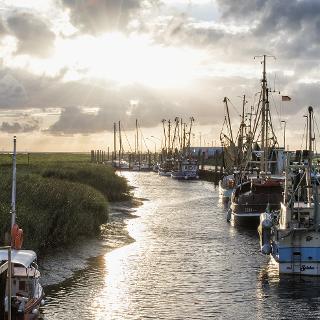 Kutterhafen an der Wurster Nordseeküste