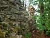Imposante Reste der Burg Werdeck. Diese thronte auf einem Bergsporn über dem Brettachtal. Ob es eine Turmburganlage war wird noch gerätselt.   - © Quelle: Antje Kunz