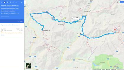 Bus Hinfahrt San Pellegrino Pass